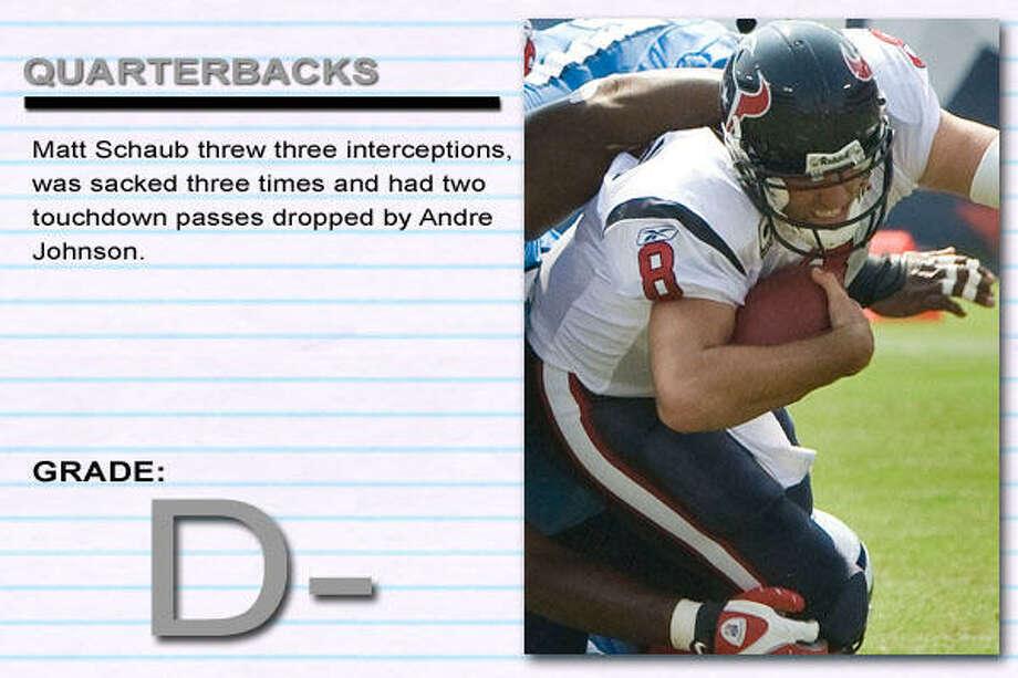 Titans 31, Texans 12 Photo: BRETT COOMER, CHRONICLE