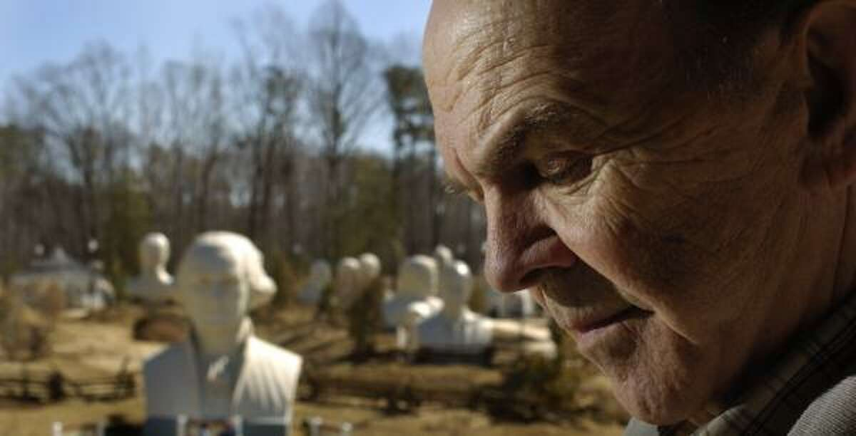 Houston sculptor David Adickes created the heads in Presidents Park in Williamsburg, Va. The Houston area will be home to a third and final set of Adickes' presidential heads. The others are near Mount Rushmore.
