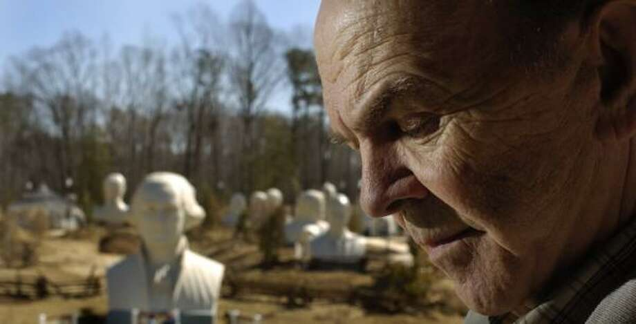 Presidential heads: Houston artist David Adickes likes to sculpt big things. Monster-size telephones, giant violinists and enormous heads. The works you're most likely to see around Houston are his presidential busts. For eagle-eyed commuters there are two — Washington and Lincoln — downtown near the confluence of I-10 and I-45. And often you can spot several more as you drive past Adickes' SculpturWorx Studio near downtown. 2500 Summer, adickes.net. -Syd Kearney Photo: MIKE MORONES, FOR THE CHRONICLE