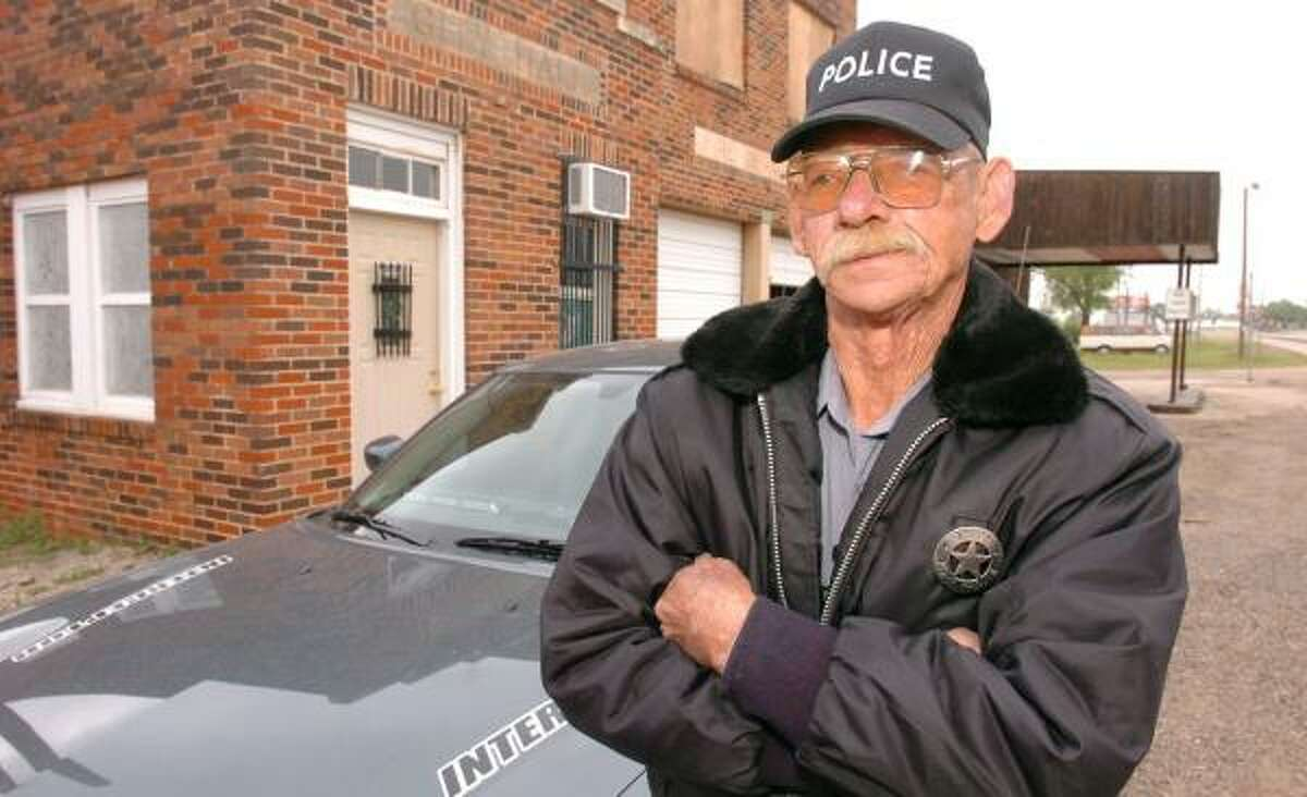 Estelline's one police officer, Barney Gilley, is the one waiting to catch speeding drivers. Gilley, who says he is known from Los Angeles to New York, writes an average of 23 speeding a tickets a day.