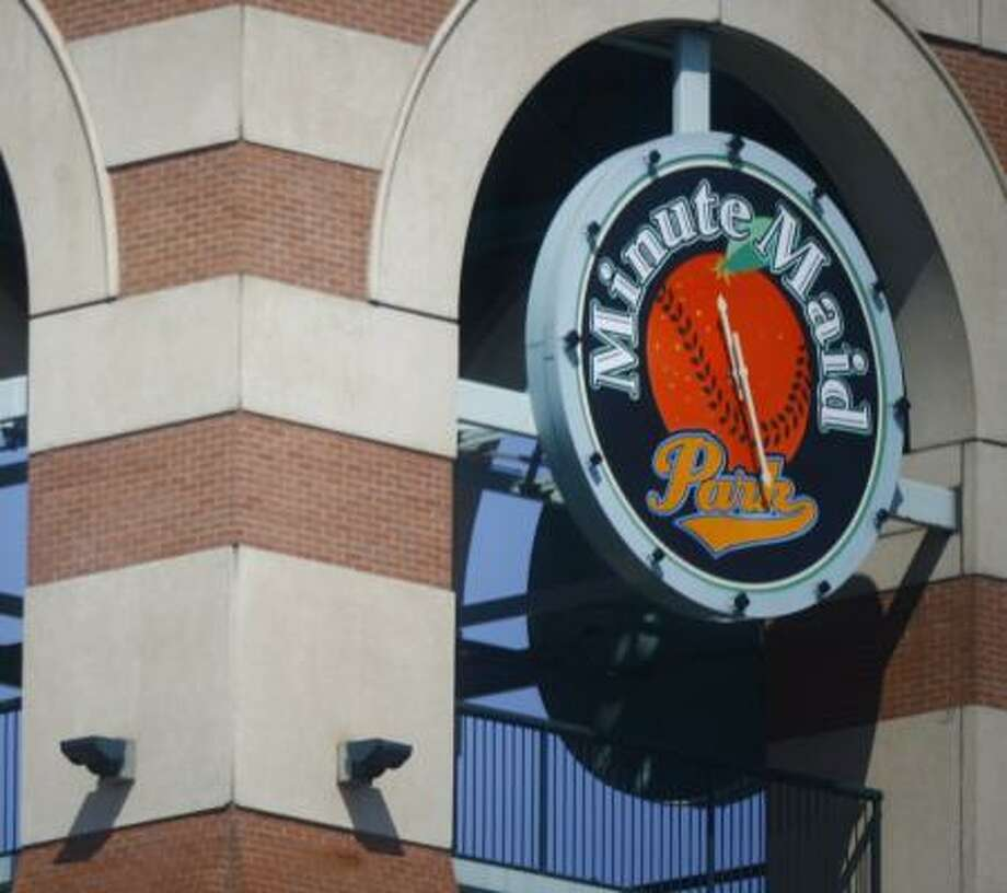 Clocks all over town, like these at Minute Maid Park, were tripped up when Daylight Saving Time didn't start Sunday. Photo: STEVE UECKERT, CHRONICLE
