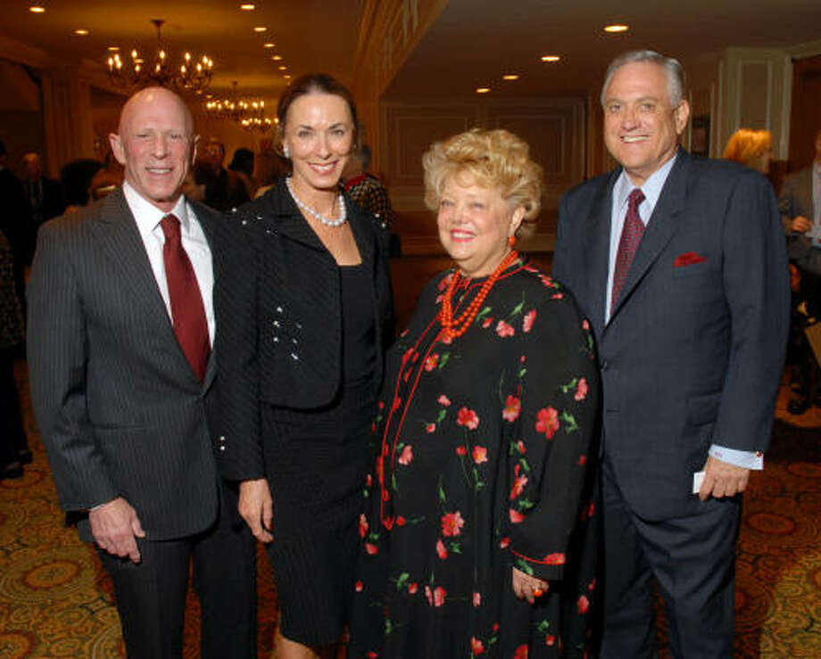Lester and Sue Smith, left, with Joyce and Arthur Schechter Photo: Dave Rossman, For The Chronicle