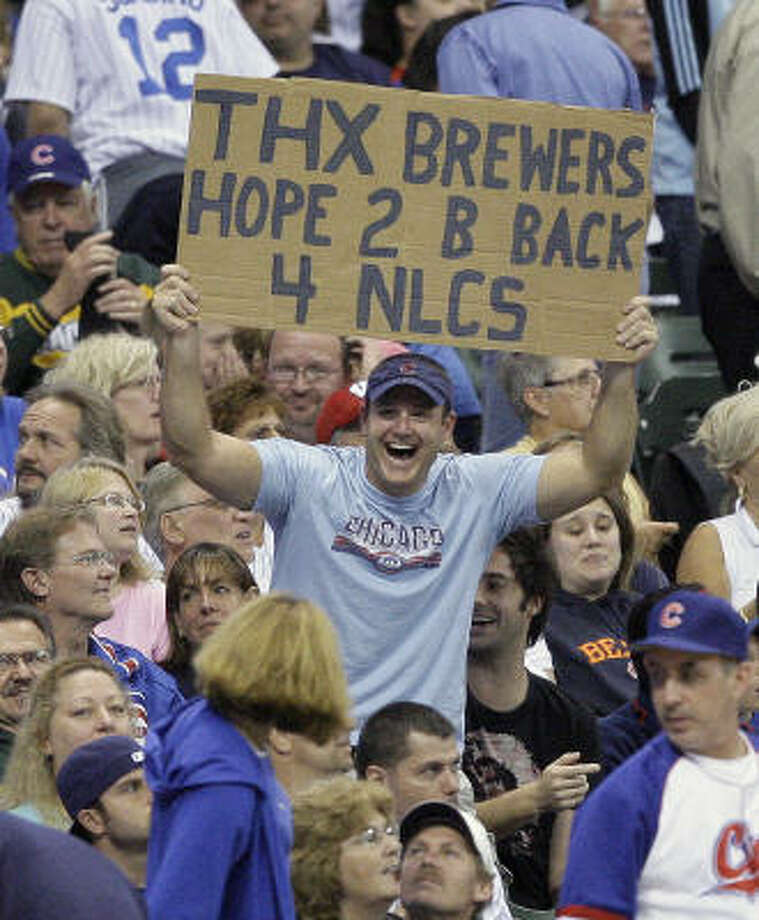 """Brian McTaggart: Stay classy, Cubs fansAt his baseball blog, the blogger writes: """"Maybe there's a reason you've been losers for 100 years."""" Photo: Morry Gash, AP"""