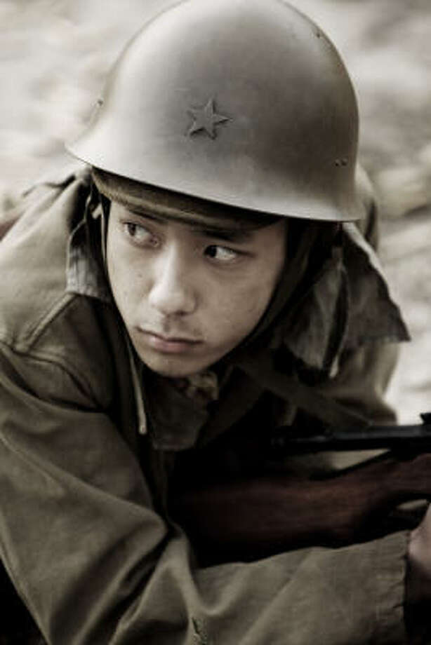 Letters From Iwo Jimapresents the Japanese as men fighting a lost cause. One of the men, Saigo, is played by pop star Kazunari Ninomiya. Photo: Warner Bros.