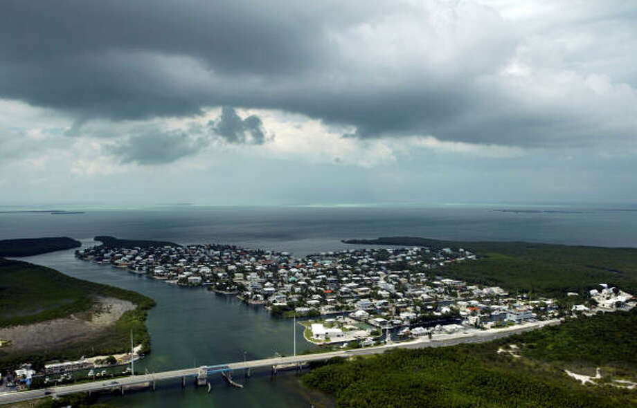 Rain clouds begin to form over the upper Keys, Fla., on Sept. 7. Photo: Alan Diaz, Associated Press