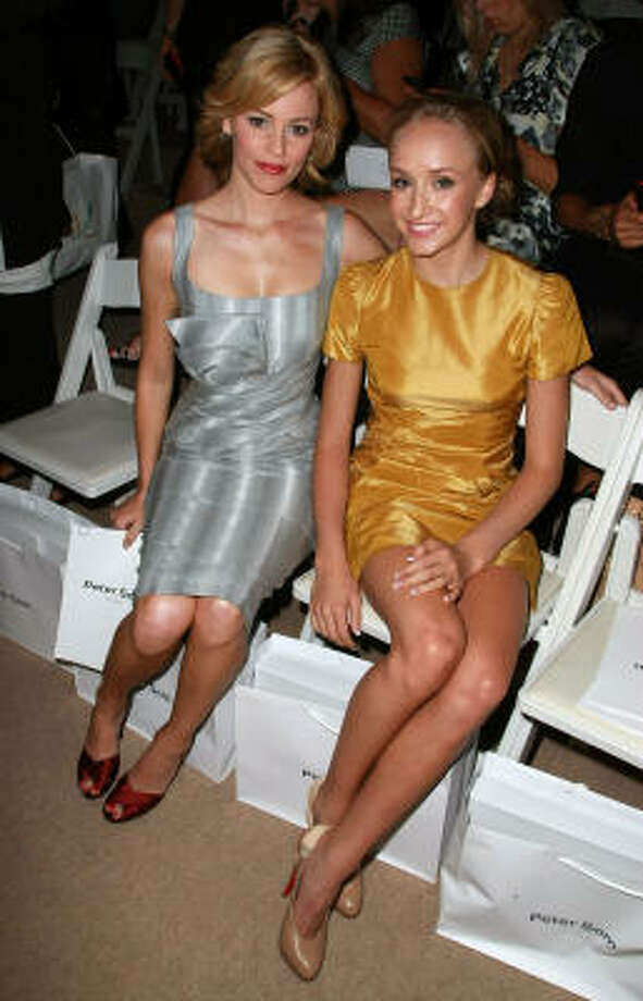 Actress Elizabeth Banks, left, and Olympic gymnast Nastia Liukin attend the Peter Som Spring 2009 fashion show during Mercedes-Benz Fashion Week. Photo: Andrew H. Walker, Getty Images For IMG
