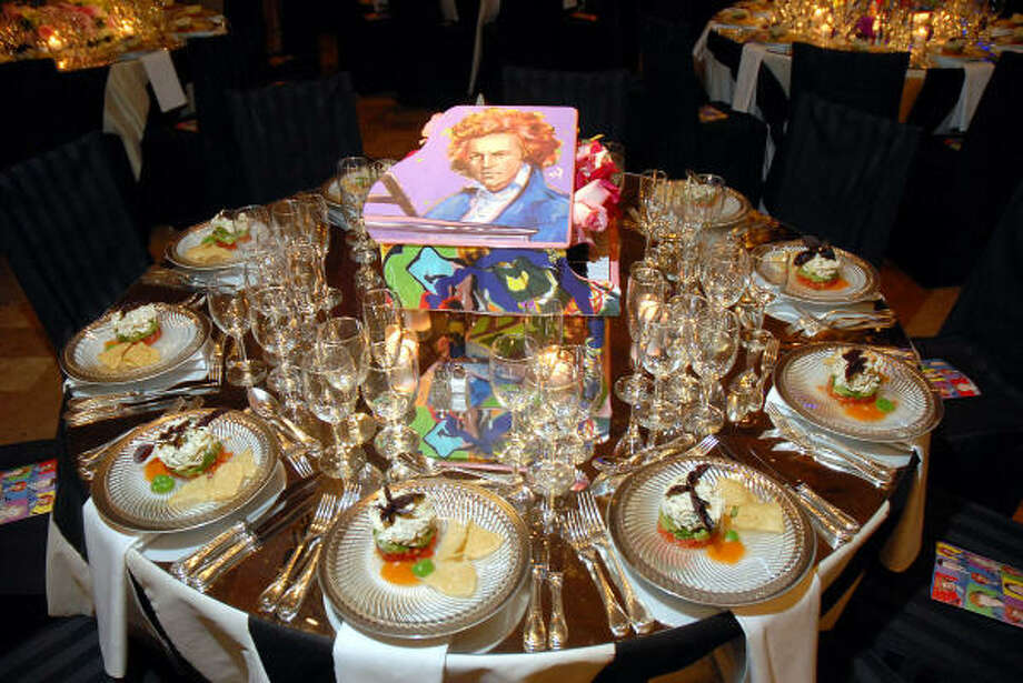 The table setting at the Houston Symphony Opening Night Concert and Gala at The Corinthian on Saturday Sept. 6, 2008. Photo: Dave Rossman, For The Chronicle