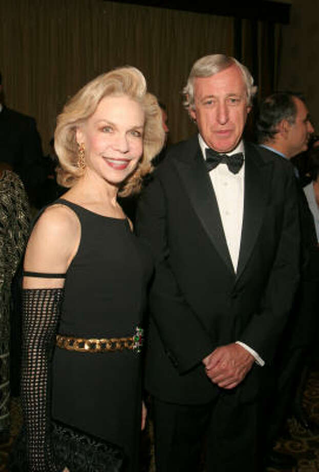 Lynn Wyatt and French Ambassador Pierre Vimont at the gala benefiting the World Foundation for Medical Research and Prevention Photo: Gary Fountain, For The Chronicle