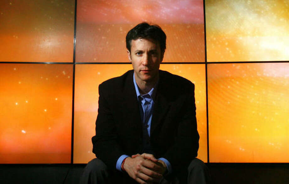 David Eagleman says his Deathswitch news service is a form of information insurance. Photo: SHARON STEINMANN, CHRONICLE