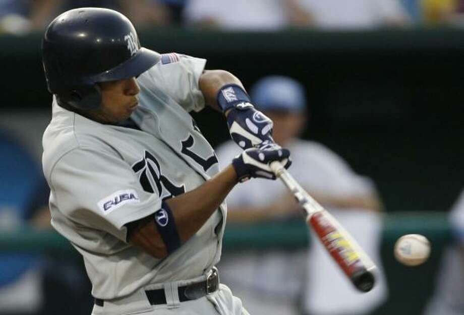 On another big offensive night for Rice, Diego Seastrunk set the pace with three hits. Photo: KEVIN FUJII, CHRONICLE