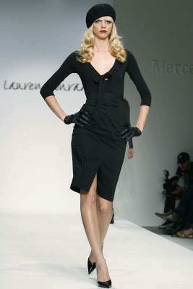 A model walks the runway during the Lauren Conrad Collection Fall 2008 fashion show during Mercedes-Benz fashion week in Culver City, Calif. Photo: Matt Sayles, Associated Press