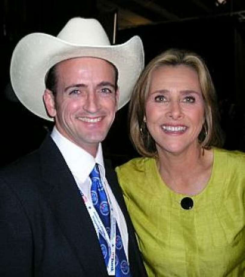 Katy delegate Michael A. Franks gets a moment with Meredith Viera of The View and Millionaire. Photo: Michael A. Franks, For The Chronicle