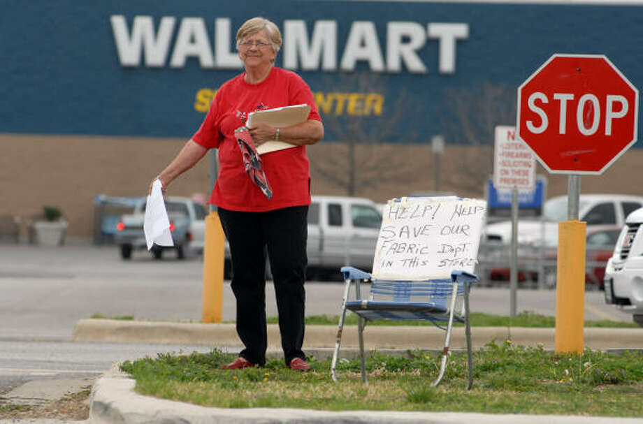 Wal-Mart shopper Doreen Taft is unhappy, but an expert says small business could benefit as the retailer pulls its sewing centers. Photo: Wendi Poole, For The Chronicle