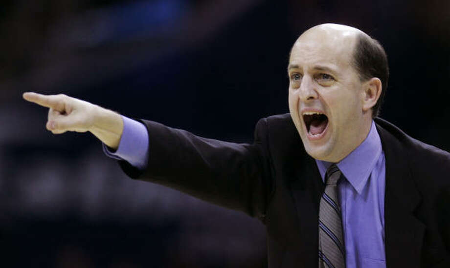 Coach Jeff Van Gundy finally has the Rockets pointed in the right direction in his fourth season as coach. Photo: Tony Dejak, AP