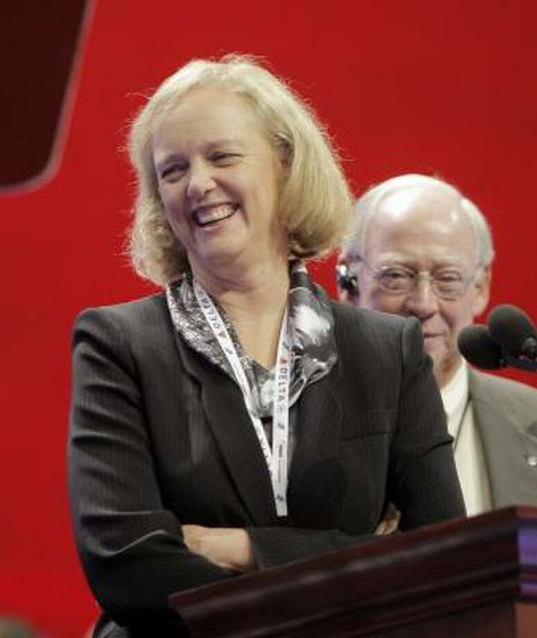 Meg Whitman, national co-chair for McCain 2008 and former CEO of eBay, is scheduled to speak at the Republican National Convention on Wednesday, September 3. She has two children. Photo: Jae C. Hong, AP