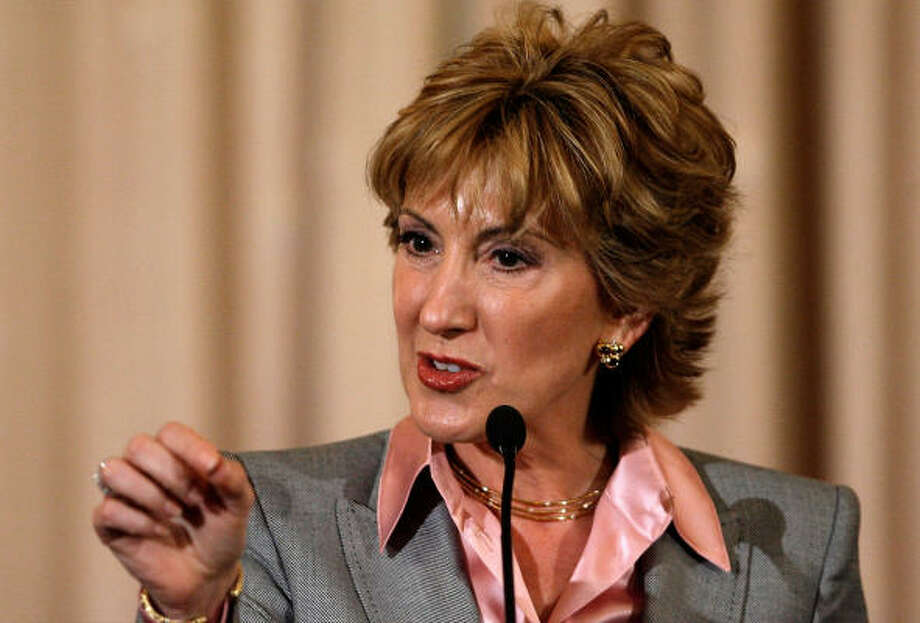 McCain adviser and former Hewlett-Packard CEO Carly Fiorina has two step-daugthers, Traci and Lori Ann. Photo: Chip Somodevilla, Getty Images
