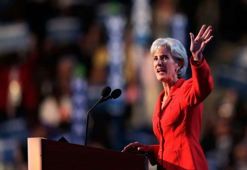 Kansas Governor Kathleen Sebelius, a Democrat, has two sons.