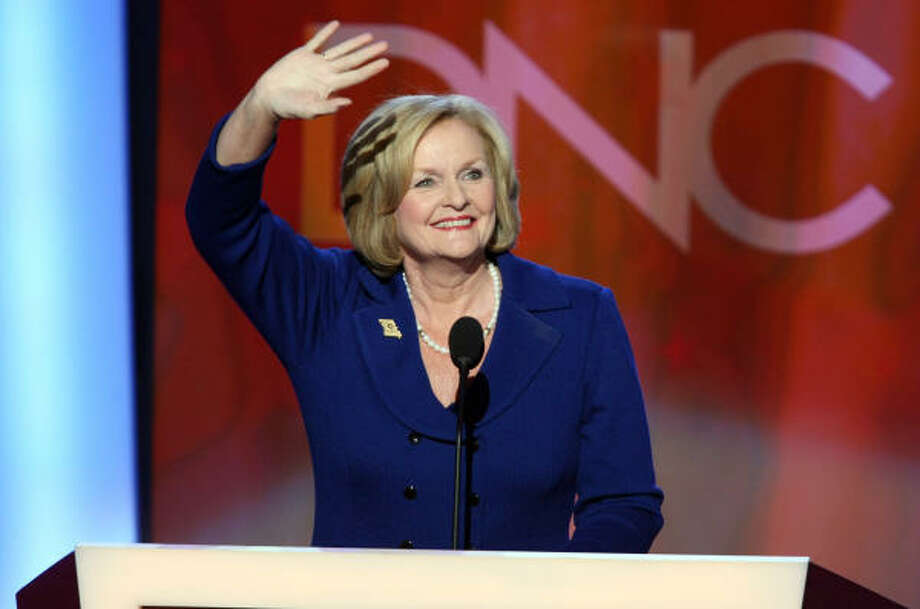 Democrat Senator Claire McCaskill of Missouri is mother to a blended family of nine with husband Joseph Shepard. Photo: Brian Baer, Sacramento Bee