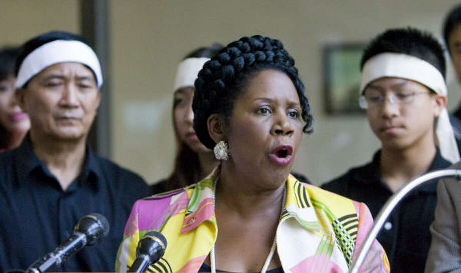 Houston congresswoman Sheila Jackson Lee has a son (Jason) and a daughter (Erica). Photo: Steve Campbell, Chronicle