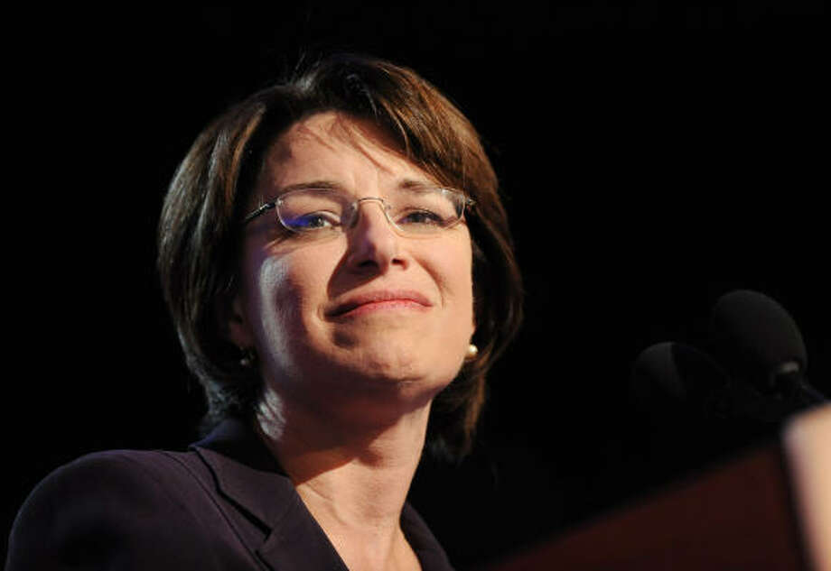 Minnesota Senator Amy Klobuchar, a Democrat, is mother to a twelve year old daughter named Abigail. Photo: Olivier Douliery, Abaca Press