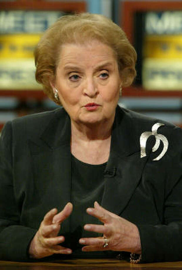 Former Secretary of State Madeline Albright is mother to three girls, including a pair of twins. Photo: ALEX WONG, AP