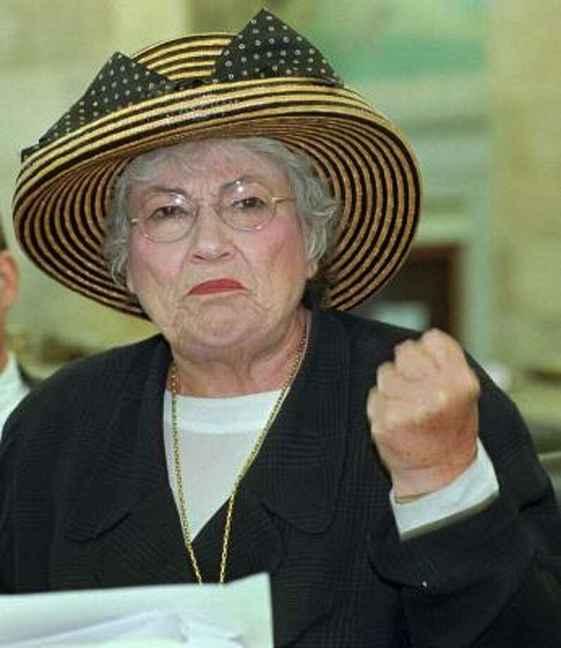 Former Representative Bella Abzug, who represented New York as a Democrat, had a daughter, Liz. Photo: CHARLES REX ARBOGAST, AP