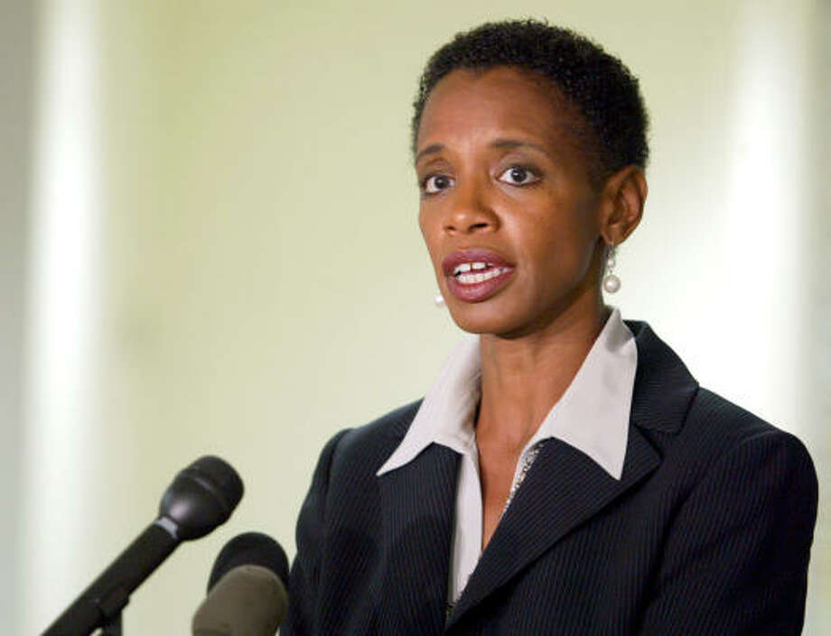 Maryland Democratic representative Donna Edwards has a son, Jared. Photo: MATT HOUSTON, AP