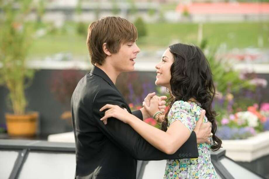 Zac Efron, left, and Vanessa Hudgens are shown in a scene from 'High School Musical 3.' Photo: Fred Hayes, Associated Press