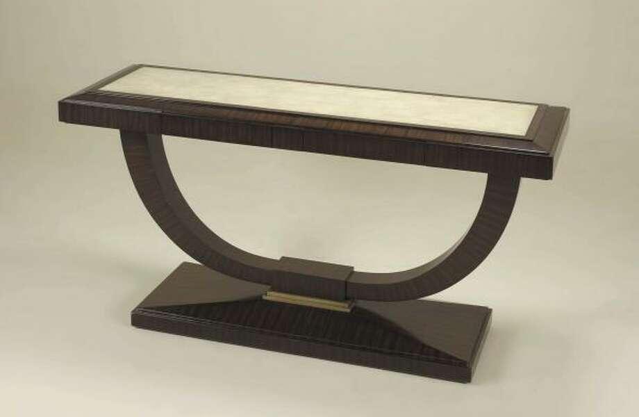 Shagreen-topped console from Krispen. Photo: Krispen