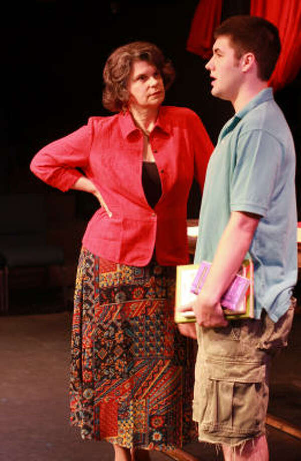 Laurie, played by Rebecca Greene Udden, and Third, played by Josh Taylor in a scene from Main Street Theater's production of Wendy Wasserstein's play Third. Photo: Gary Fountain, For The Chronicle