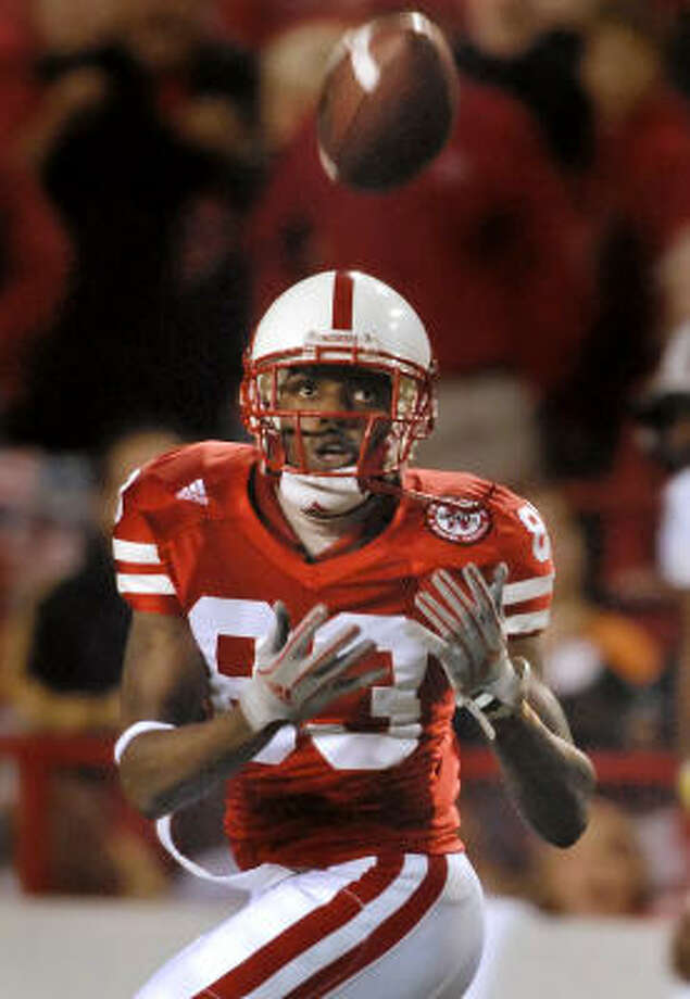 WR Terrance Nunn is one of six Nebraska starters which were recruited by former Cornhuskers head coach Frank Solich. Photo: Dave Weaver, AP