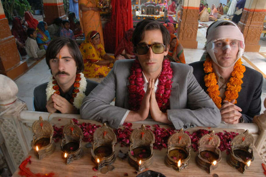 Jason Schwartzman, Adrien Brody and Owen Wilson star as brothers in The Darjeeling Limited. Photo: Fox Searchlight Pictures