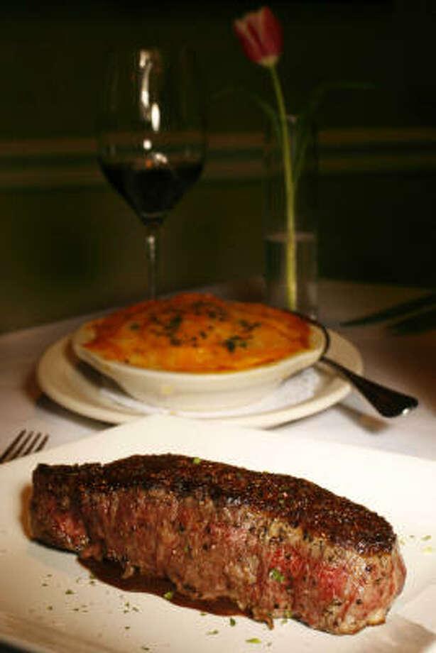 Killen's signature dish is the New York strip steak. Photo: Mayra Beltran, Chronicle