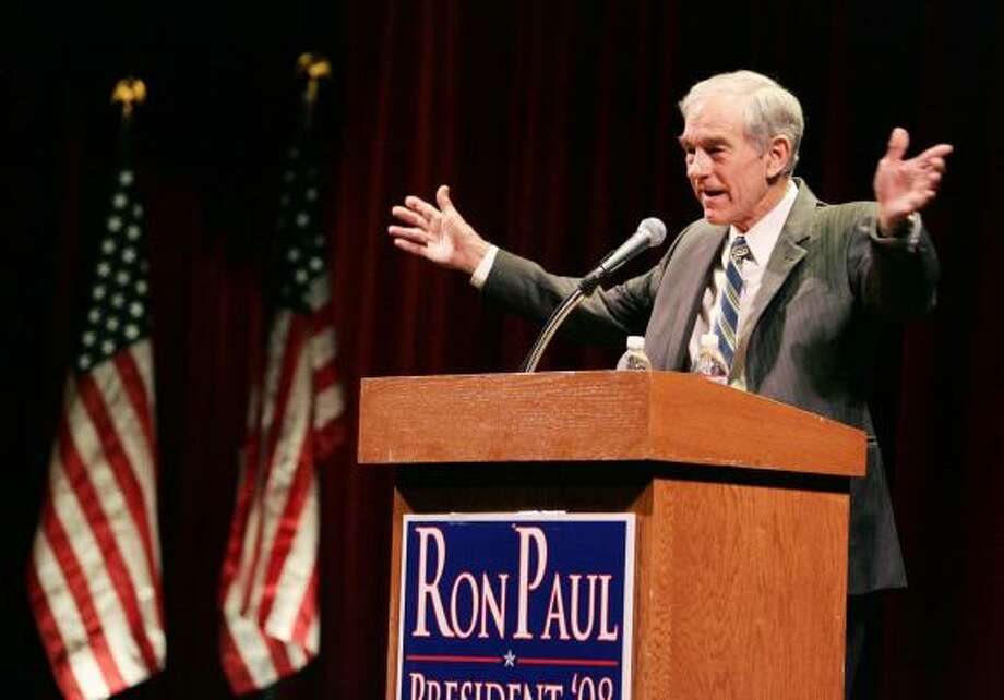 The owner of a Nevada brothel will have a collection box there for candidate Ron Paul, above. Photo: RONDA CHURCHILL, LAS VEGAS REVIEW-JOURNAL