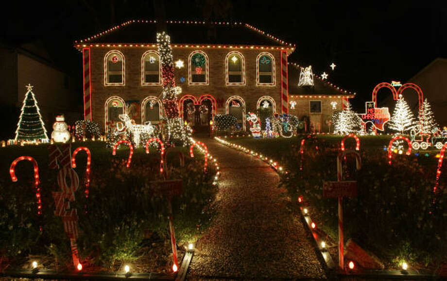 One of the holiday displays in the Prestonwood Forest. Photo: Brett Coomer, Chronicle