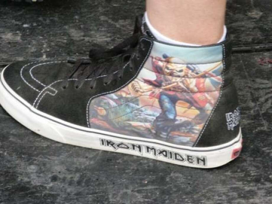 More Iron Maiden shoes. Photo: Joey Guerra, Chronicle