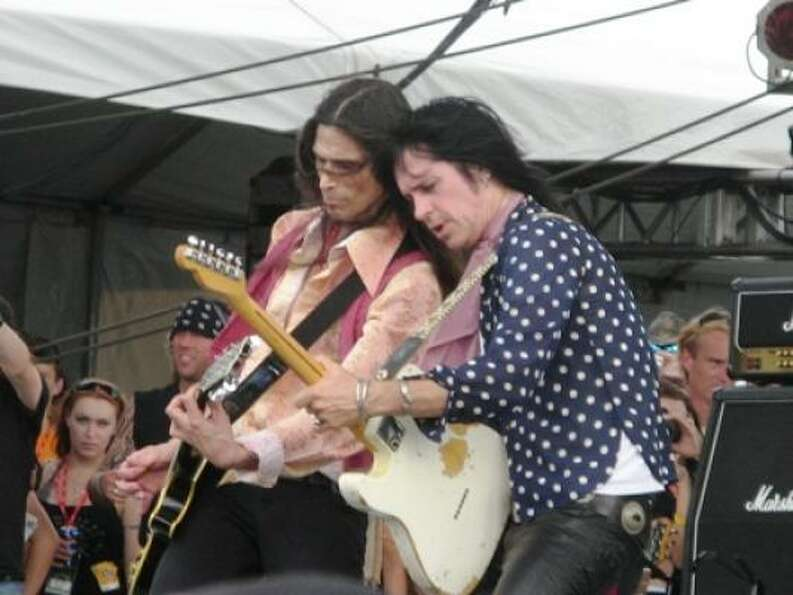 Kix members Jimi K. Bones and Pat Dement.