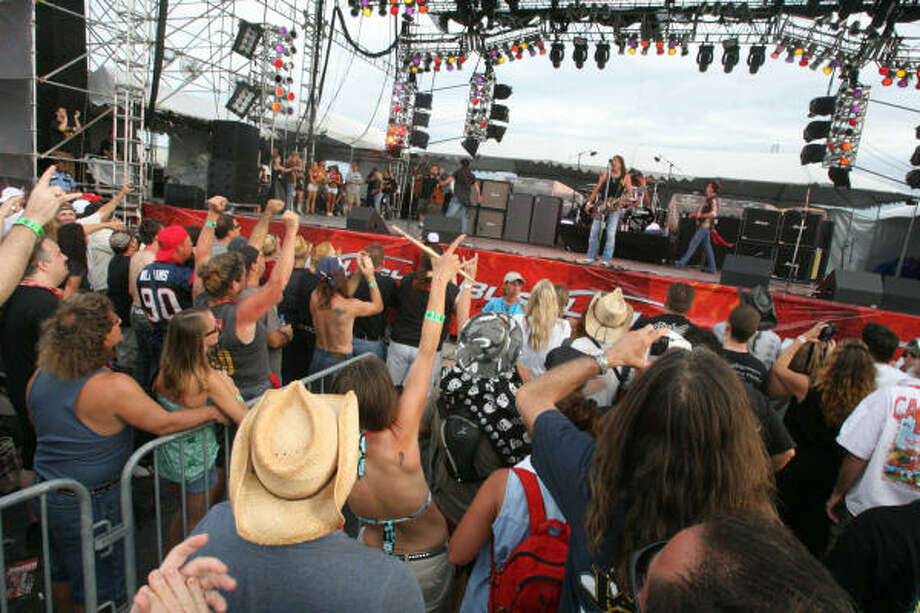 Jackal performs at the Rock The Bayou. Photo: Bill Olive, For The Chronicle