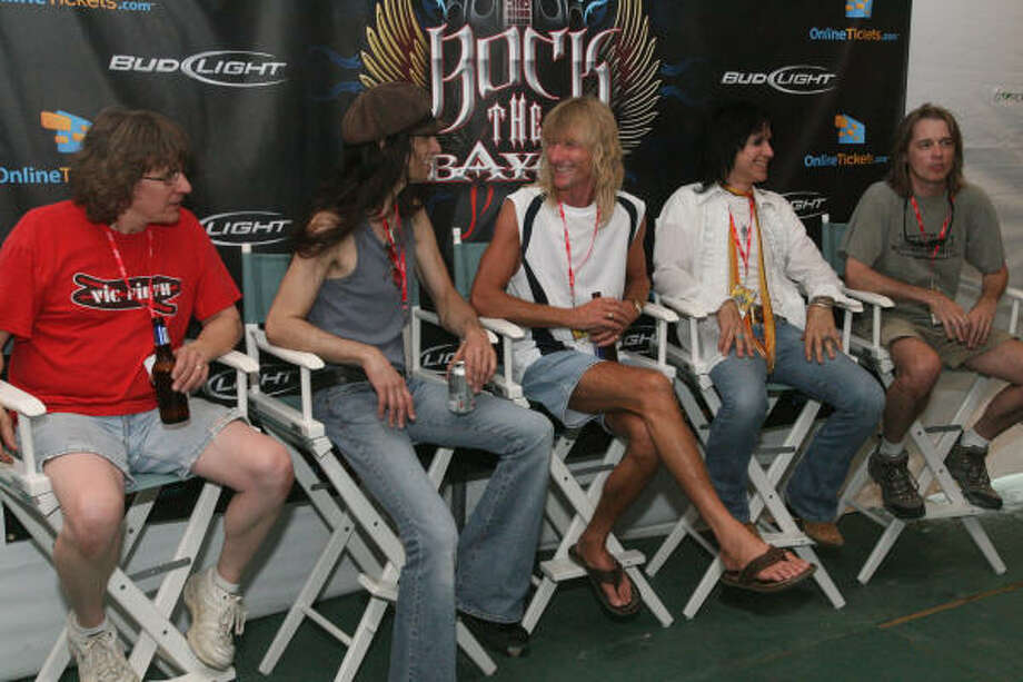 Kix backstage at the Rock The Bayou. Photo: Bill Olive, For The Chronicle