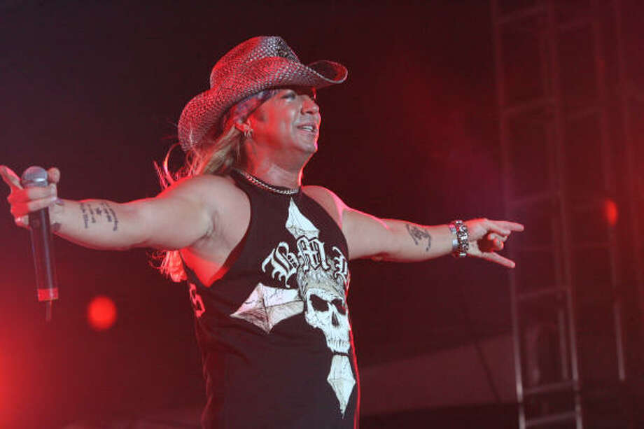 Bret Michaels performs during Monday night's headlining slot at Rock the Bayou. Photo: Bill Olive, For The Chronicle
