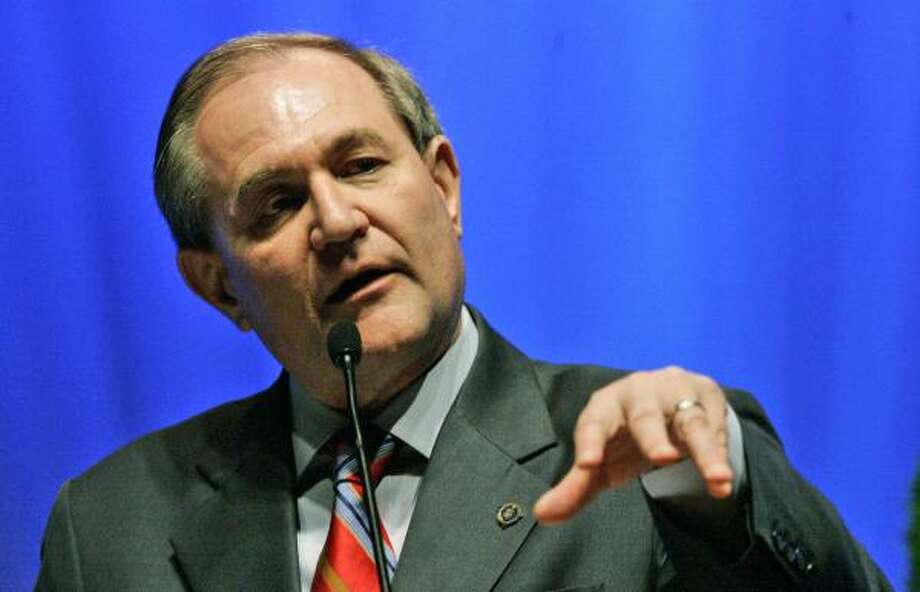 Republican presidential hopeful former Virginia Gov. Jim Gilmore address the delegates Saturday at the Republican Party State Convention in Columbia, S.C. Photo: Mary Ann Chastain, AP