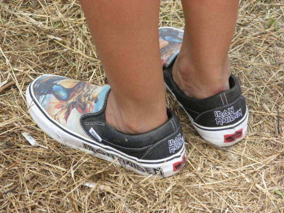 Nothing says rock like a pair of Iron Maiden-branded Vans. Photo: Joey Guerra, Chronicle
