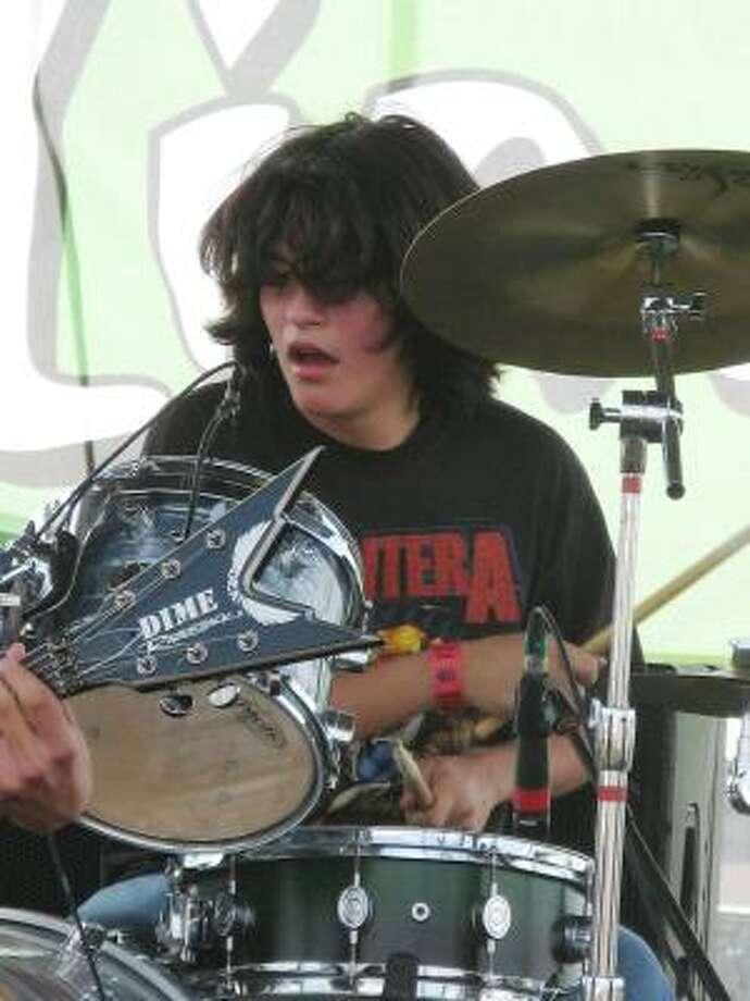 Metavenge drummer Brandon Galvan. Photo: Joey Guerra, Chronicle