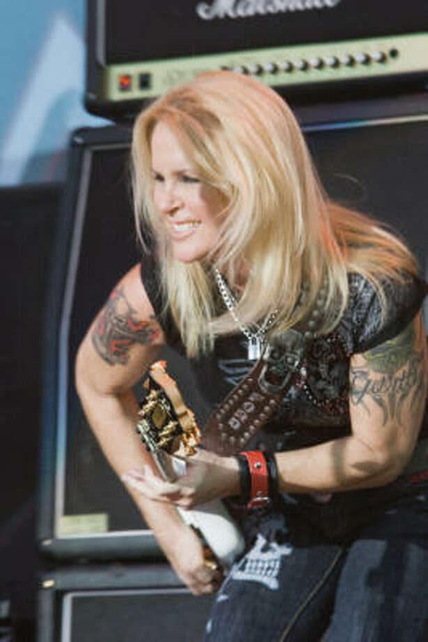 Lita Ford performs. Photo: Bill Olive, For The Chronicle
