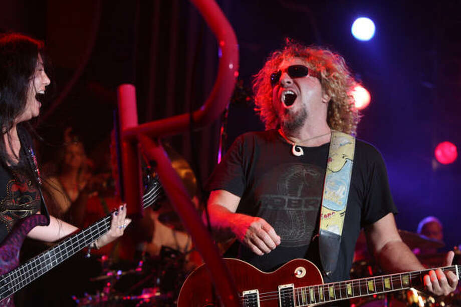 Sammy Hagar performs. Photo: Bill Olive, For The Chronicle