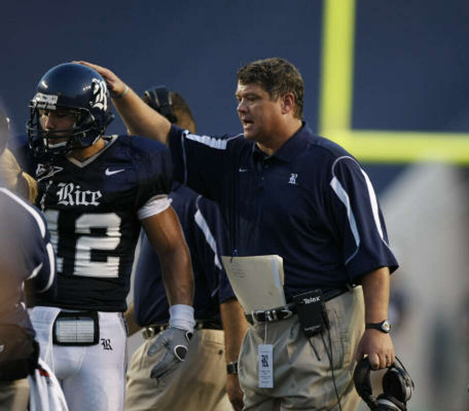 Rice coach David Baliff is expecting a strong season after closing last year out on a five-game winning streak. Photo: Nick De La Torre, Chronicle