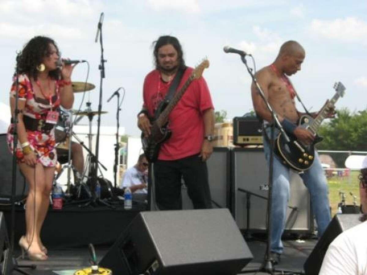 Houston band La Sed performs.