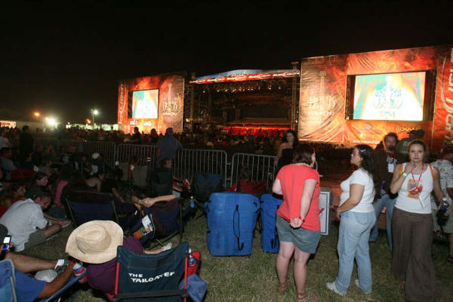 The main stage at Rock the Bayou. Photo: Bill Olive, For The Chronicle