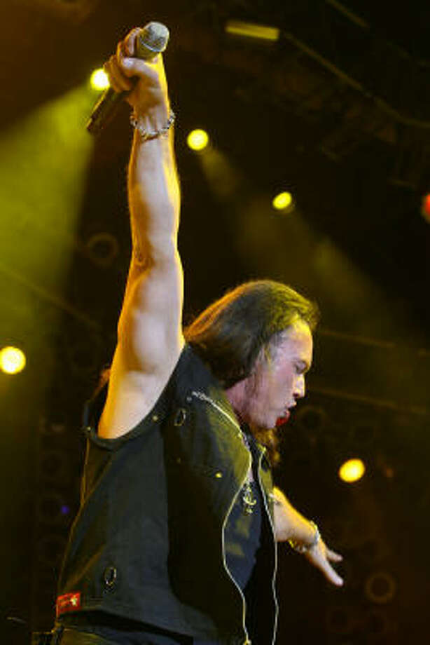 Geoff Tate of Queensryche. Photo: Bill Olive, For The Chronicle
