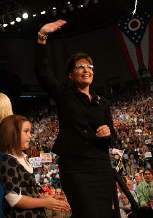 IN:GOP vice presidential candidate Alaska Gov. Sarah Palin Photo: Mario Tama, Getty Images